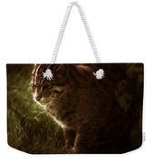 The Sleepy Wild Cat Weekender Tote Bag