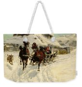 The Sleigh Ride Weekender Tote Bag