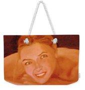 The Smiling Girl Weekender Tote Bag
