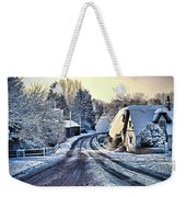 The Snowy Cottages Weekender Tote Bag