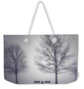 The Soft Breath Of Winter Weekender Tote Bag