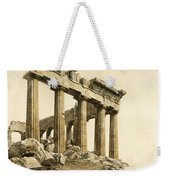The South-east Corner Of The Parthenon. Athens Weekender Tote Bag