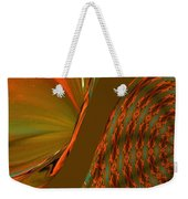 The Space Between Two Forces Abstract Weekender Tote Bag