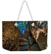 The Spiral Staircase Of The Abbandoned Children Summer Vacation Building - La Scala A Chiocciola Del Weekender Tote Bag