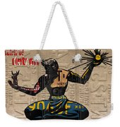 The Spirit Of Detroit Statue Recycled Michigan License Plate Art Homage Weekender Tote Bag
