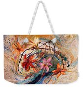 The Splash Of Life 17. Humming-bird And Exotic Flowers Weekender Tote Bag