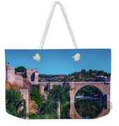 The St. Martin Bridge Over The Tagus River In Toledo Weekender Tote Bag