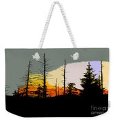 The Stained Glass Forest Weekender Tote Bag
