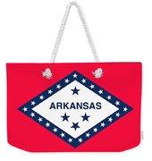 The State Flag Of Arkansas Weekender Tote Bag