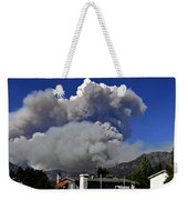 The Station Fire Panoramic Weekender Tote Bag