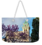 The Steeple Of The Valldemossa Charterhouse In Spring Weekender Tote Bag