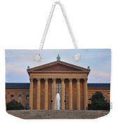 The Steps Of The Philadelphia Museum Of Art Weekender Tote Bag by Bill Cannon