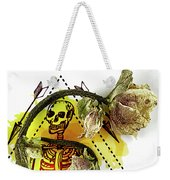 The Still Life With A Winter Rose Flower In A Macabre Style. Weekender Tote Bag
