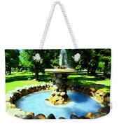 The Stone Fountain Weekender Tote Bag
