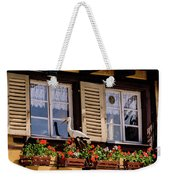 The Stork Has A Delivery - Colmar France Weekender Tote Bag