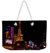 The Strip At Night 1 Weekender Tote Bag