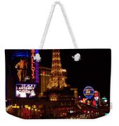 The Strip At Night 2 Weekender Tote Bag