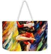 The Sublime Tango - Palette Knife Oil Painting On Canvas By Leonid Afremov Weekender Tote Bag
