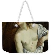 The Suicide Of Lucretia 1640 Weekender Tote Bag