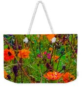 The Summer Flower Party Weekender Tote Bag