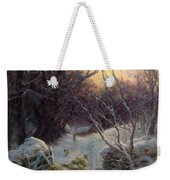 The Sun Had Closed The Winter Day Weekender Tote Bag