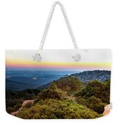 The Sun Of The Evening Of The Mountain And Sea Weekender Tote Bag