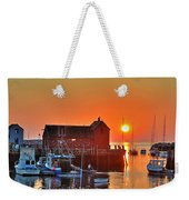 The Sun Rising By Motif Number 1 In Rockport Ma Bearskin Neck Weekender Tote Bag