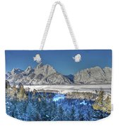 The Sun Rising On The Tetons Weekender Tote Bag