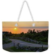 The Sun Sets On Block Island Weekender Tote Bag