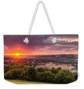 The Sun Sets Over Hexham Weekender Tote Bag