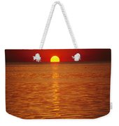 The Sun Sinks Into Pamlico Sound Seen Weekender Tote Bag