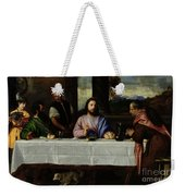 The Supper At Emmaus Weekender Tote Bag by Titian
