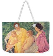 The Swim Or Two Mothers And Their Children On A Boat Weekender Tote Bag