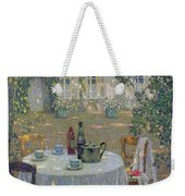 The Table In The Sun In The Garden Weekender Tote Bag by Henri Le Sidaner