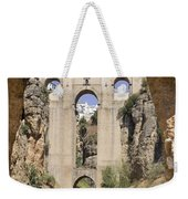 The Tajo De Ronda And Puente Nuevo Bridge Andalucia Spain Europe Weekender Tote Bag
