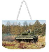 The Tank T-72 In Movement Weekender Tote Bag