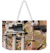 The Temple Of Castor And Pollux At The Forum From The Palatine Weekender Tote Bag