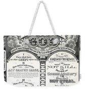 The Ten Commandments 1876 Vintage Poster Restored Weekender Tote Bag