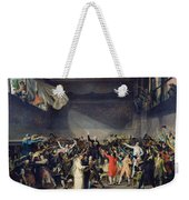 The Tennis Court Oath Weekender Tote Bag by Jacques Louis David