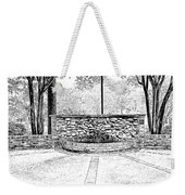 The Terrace In Black And White Weekender Tote Bag