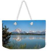 The Tetons On Jackson Lake - Grand Teton National Park Wyoming Weekender Tote Bag