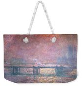 The Thames At Charing Cross Weekender Tote Bag