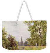 The Thames At Purley Weekender Tote Bag