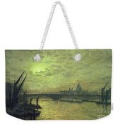 The Thames By Moonlight With Southwark Bridge Weekender Tote Bag