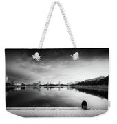 The Thinker And The Lake Weekender Tote Bag