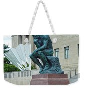 The Thinker And The Shuttlecock Weekender Tote Bag