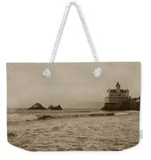 The  Third Cliff House And Seal Rocks From Pier, San Francisco,  Circa 1895 Weekender Tote Bag