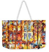 The Three Friends - Palette Knife Oil Painting On Canvas By Leonid Afremov Weekender Tote Bag