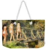 The Three Nymphs By Mary Bassett Weekender Tote Bag