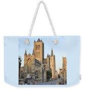 The Three Towers Of Gent Weekender Tote Bag by Marilyn Dunlap